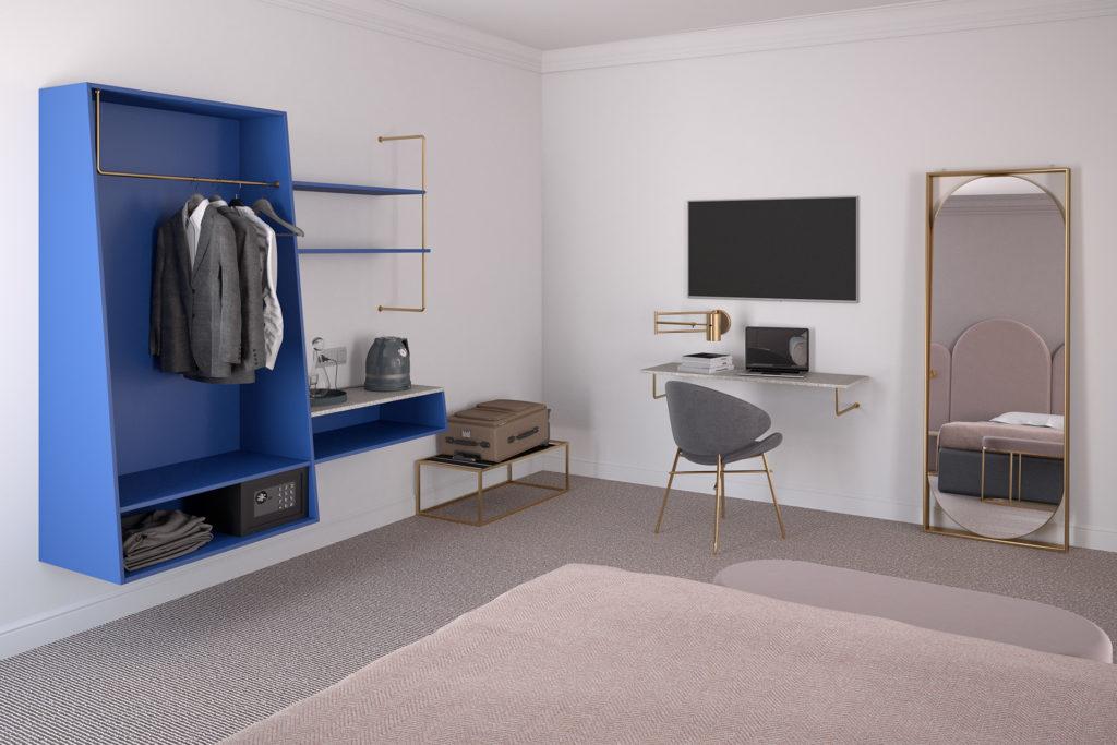 møbler til hotelværelser